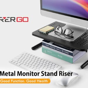Review: LORYERGO Monitor Stand Riser, 2-Tier Desk Organizer Stand with Metal Vented for Compute...