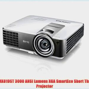 Review: BenQ MX819ST 3000 ANSI Lumens XGA SmartEco Short Throw 3D Projector
