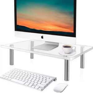 Review: Yestbuy Acrylic Monitor Stand Riser, Clear Computer Stand for Laptop, iMac, Pc, Printer...