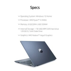 "Review: HP High Performance 15.6"" Touch-Screen Laptop (15-EF0023dx) AMD Ryzen 5 3500U 12GB Memo..."